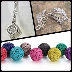 Jewelry - Lava diffuser aromatherapy necklace